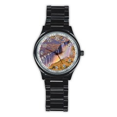 Waterfall Africa Zambia Stainless Steel Round Watches