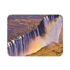 Waterfall Africa Zambia Double Sided Flano Blanket (mini)