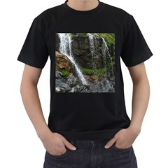 Waterfall Men s T Shirt (black) (two Sided)