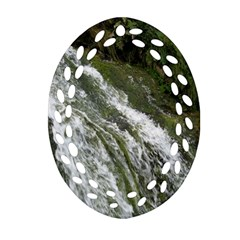 WATER OVERFLOW Oval Filigree Ornament (2-Side)