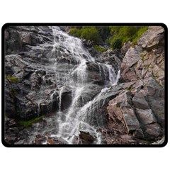 Mountain Waterfall Double Sided Fleece Blanket (large)