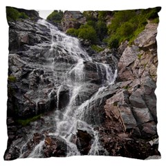 Mountain Waterfall Large Flano Cushion Cases (two Sides)