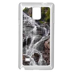MOUNTAIN WATERFALL Samsung Galaxy Note 4 Case (White)