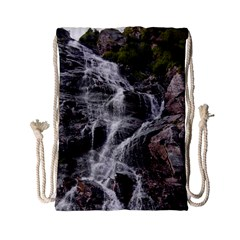Mountain Waterfall Drawstring Bag (small)