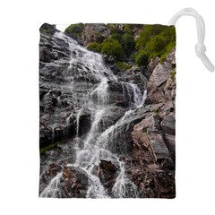 MOUNTAIN WATERFALL Drawstring Pouches (XXL)