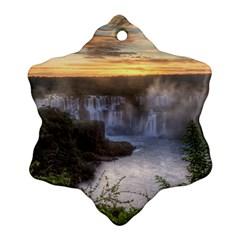 Iguazu Falls Ornament (snowflake)