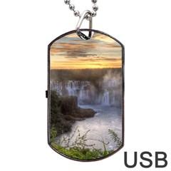 IGUAZU FALLS Dog Tag USB Flash (Two Sides)