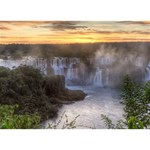 IGUAZU FALLS Get Well 3D Greeting Card (7x5)  Back