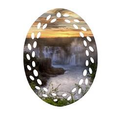 Iguazu Falls Ornament (oval Filigree)