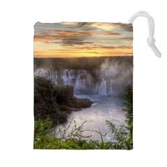 Iguazu Falls Drawstring Pouches (extra Large)