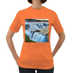 GULLFOSS WATERFALLS 2 Women s Dark T-Shirt