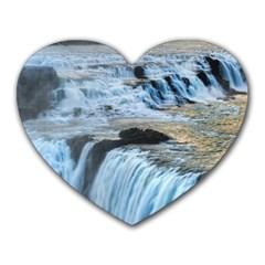 Gullfoss Waterfalls 2 Heart Mousepads
