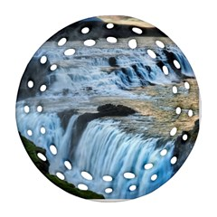GULLFOSS WATERFALLS 2 Ornament (Round Filigree)
