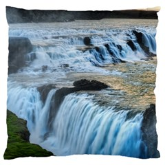 GULLFOSS WATERFALLS 2 Large Cushion Cases (Two Sides)