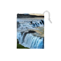 GULLFOSS WATERFALLS 2 Drawstring Pouches (Small)