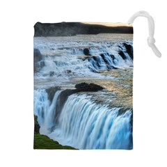 GULLFOSS WATERFALLS 2 Drawstring Pouches (Extra Large)