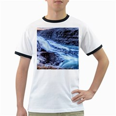 GULLFOSS WATERFALLS 1 Ringer T-Shirts
