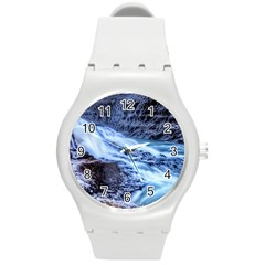 GULLFOSS WATERFALLS 1 Round Plastic Sport Watch (M)