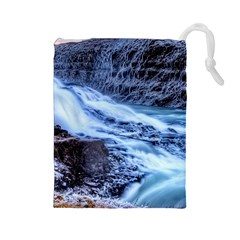 GULLFOSS WATERFALLS 1 Drawstring Pouches (Large)