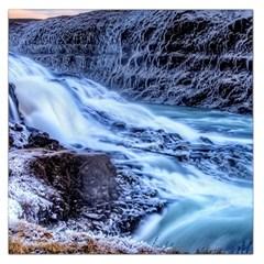 Gullfoss Waterfalls 1 Large Satin Scarf (square)