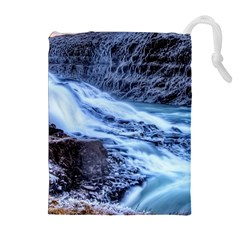 GULLFOSS WATERFALLS 1 Drawstring Pouches (Extra Large)