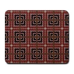 Check Ornate Pattern Large Mousepads