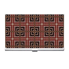 Check Ornate Pattern Business Card Holders