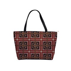 Check Ornate Pattern Shoulder Handbags