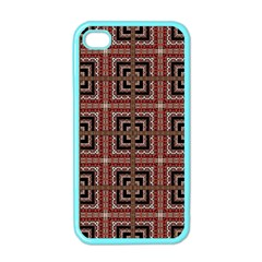 Check Ornate Pattern Apple iPhone 4 Case (Color)