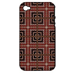 Check Ornate Pattern Apple iPhone 4/4S Hardshell Case (PC+Silicone)