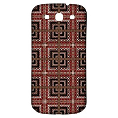 Check Ornate Pattern Samsung Galaxy S3 S III Classic Hardshell Back Case