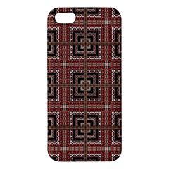 Check Ornate Pattern iPhone 5S Premium Hardshell Case