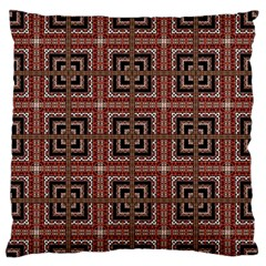 Check Ornate Pattern Large Flano Cushion Cases (two Sides)