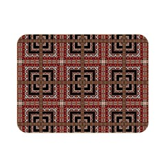 Check Ornate Pattern Double Sided Flano Blanket (Mini)