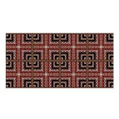 Check Ornate Pattern Satin Shawl