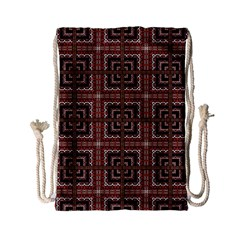Check Ornate Pattern Drawstring Bag (small)