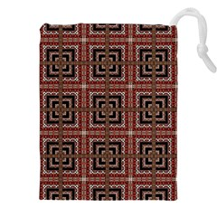 Check Ornate Pattern Drawstring Pouches (XXL)