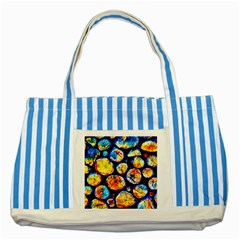 Woodpile Abstract Striped Blue Tote Bag