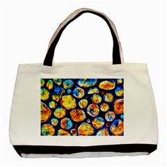 Woodpile Abstract Basic Tote Bag (Two Sides)