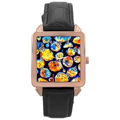 Woodpile Abstract Rose Gold Watches