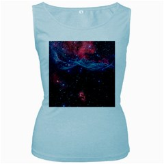 Vela Supernova Women s Baby Blue Tank Tops
