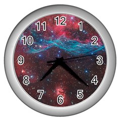 Vela Supernova Wall Clocks (silver)