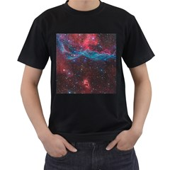 Vela Supernova Men s T Shirt (black) (two Sided)