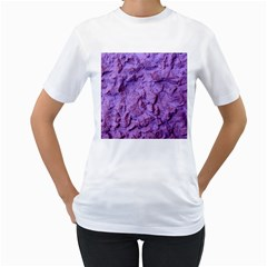 Purple Wall Background Women s T-Shirt (White) (Two Sided)