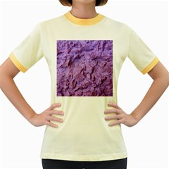 Purple Wall Background Women s Fitted Ringer T-Shirts
