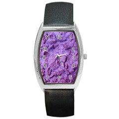 Purple Wall Background Barrel Metal Watches