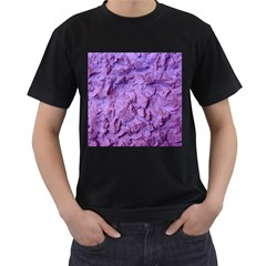Purple Wall Background Men s T Shirt (black) (two Sided)