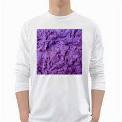 Purple Wall Background White Long Sleeve T-Shirts