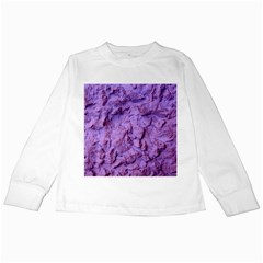 Purple Wall Background Kids Long Sleeve T Shirts