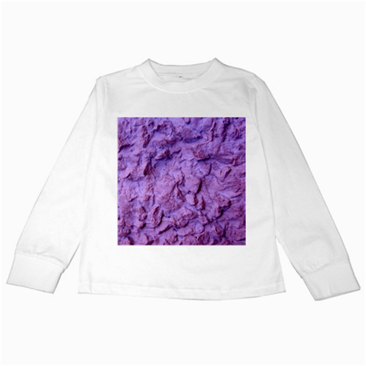 Purple Wall Background Kids Long Sleeve T-Shirts